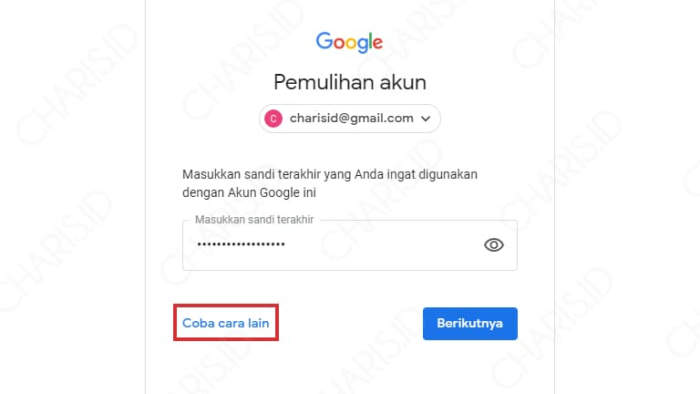 cara reset password gmail