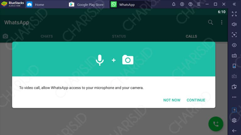 cara video call whatsapp web di laptop tanpa emulator