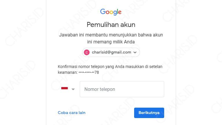 lupa password gmail dan nomor hp sudah tidak aktif