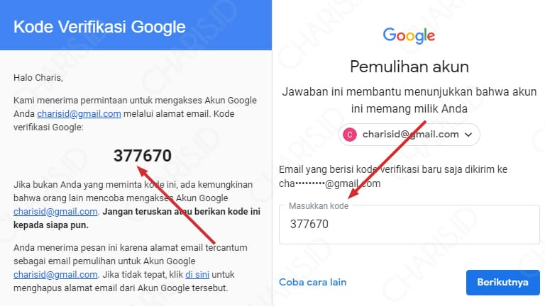 lupa password gmail sendiri