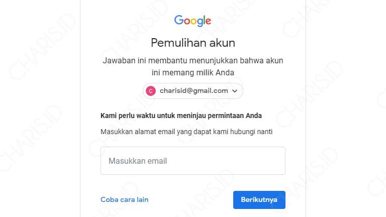 lupa sandi akun gmail