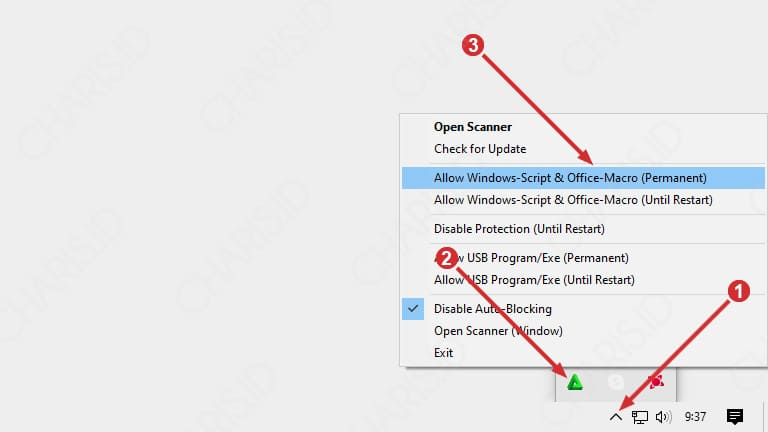 cara mengatasi windows script host is disabled