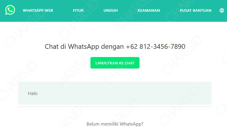 cara buat link whatsapp