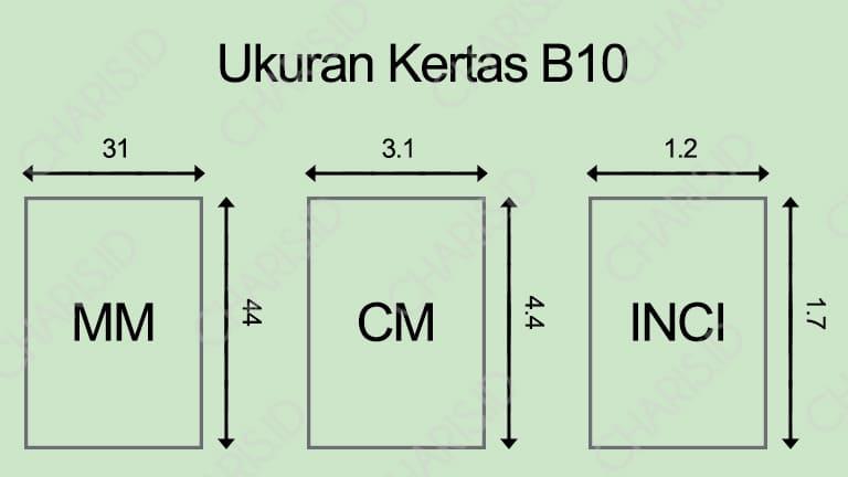 Ukuran Kertas B10