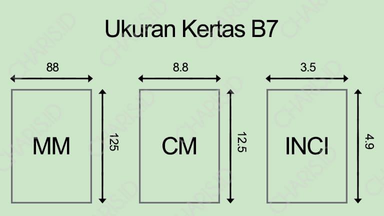 Ukuran Kertas B7
