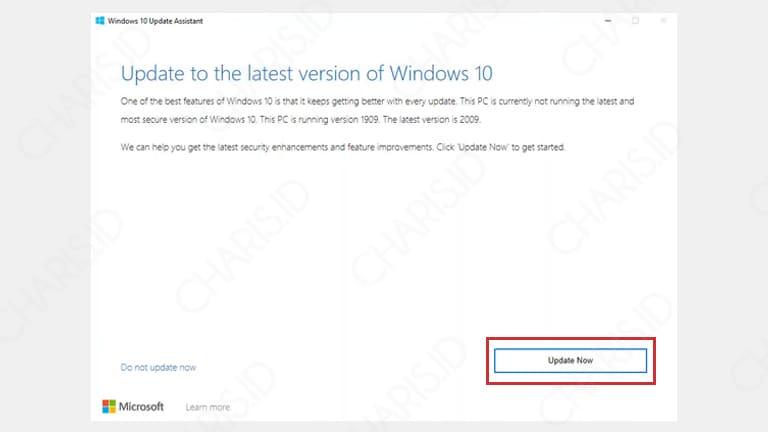 bagaimana cara update windows 10