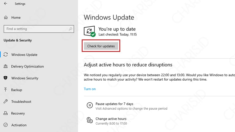 cara mendapatkan update windows 10