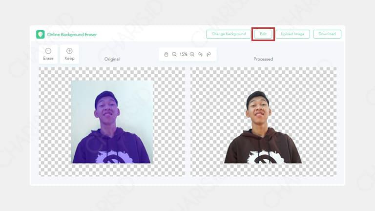 cara mengganti background foto online gratis