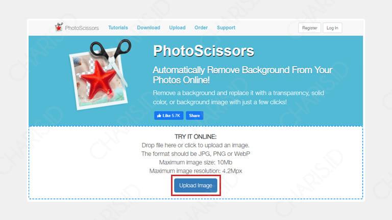 cara mengganti background pas foto online