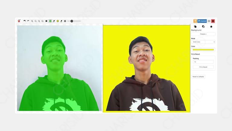 cara mengganti warna background foto online