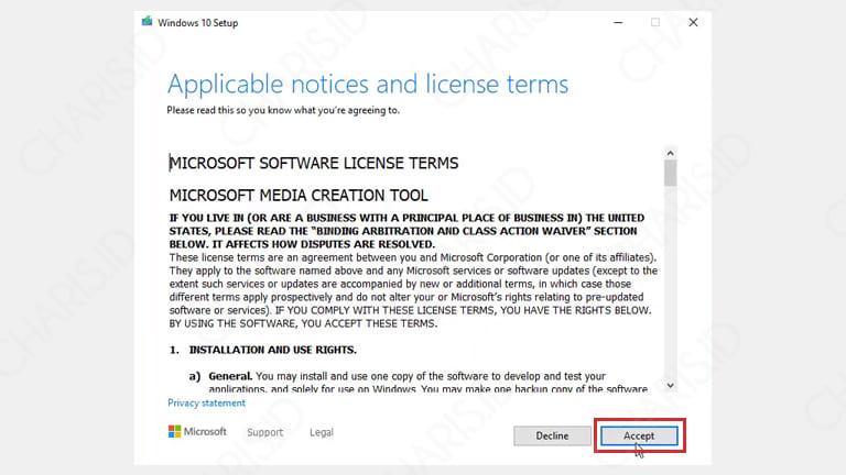 cara update versi windows 10