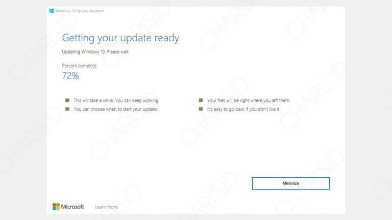 cara update windows 10 tanpa menghapus data