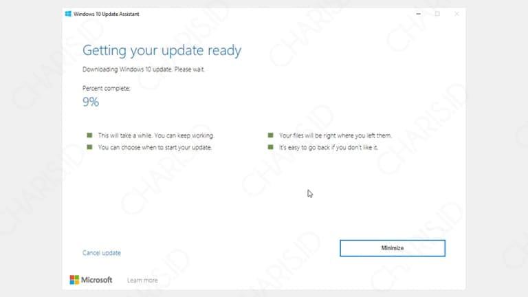 cara update windows 10 versi terbaru