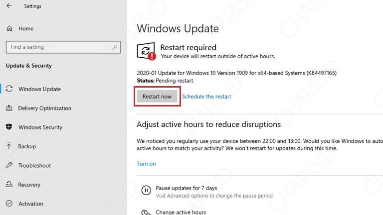 cara windows update di windows 10