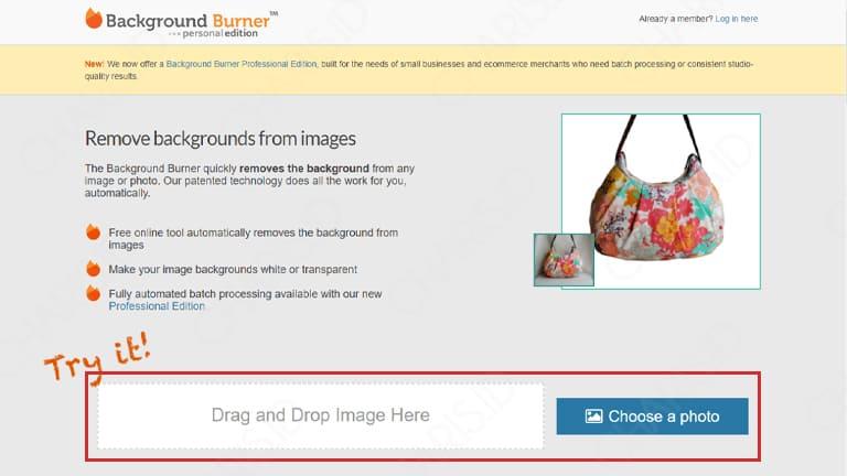ganti warna background pas foto online