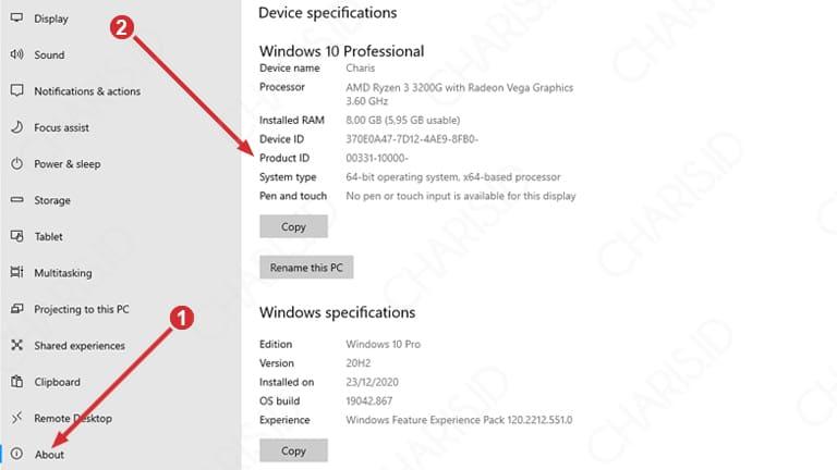 cara melihat spesifikasi komputer windows 10