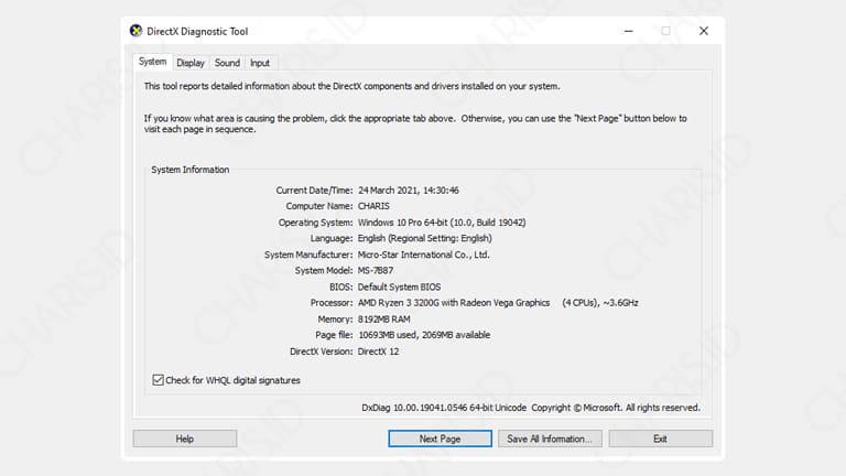 cara melihat spesifikasi komputer windows 7