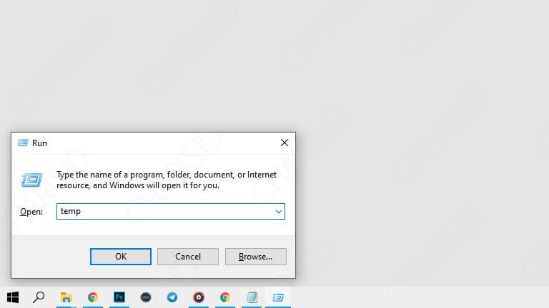 cara menghapus cache di laptop