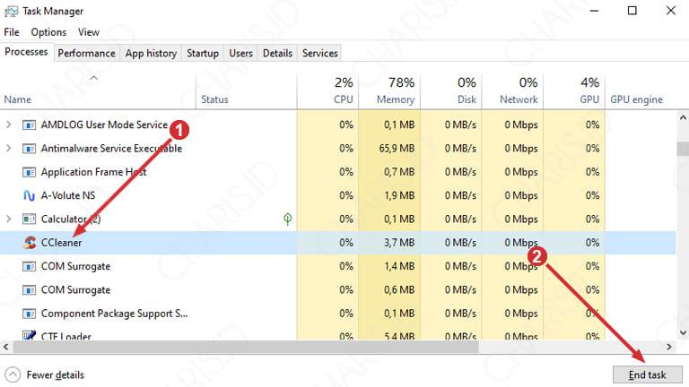 windows 10 disk 100 persen