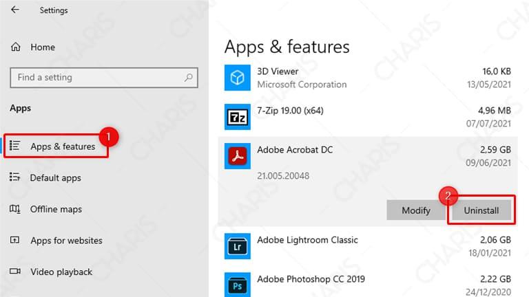 cara meng uninstall aplikasi di laptop windows 10