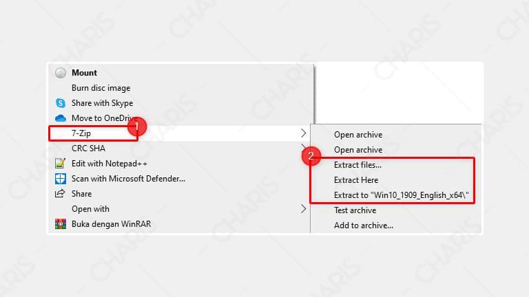 cara mudah membuka file iso