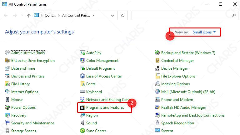 cara uninstall aplikasi di laptop windows 7