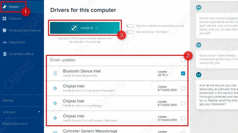 cara update driver dengan driverpack