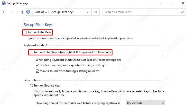 keyboard laptop terkunci windows 10